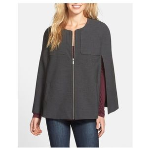 Twill Cape in Charcoal